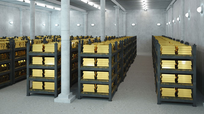 bank vault gold storage